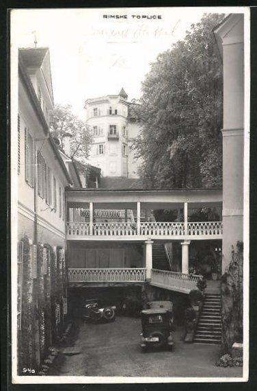 AK Rimske Toplice / Römerbad, Grand Hotel, Innenhof