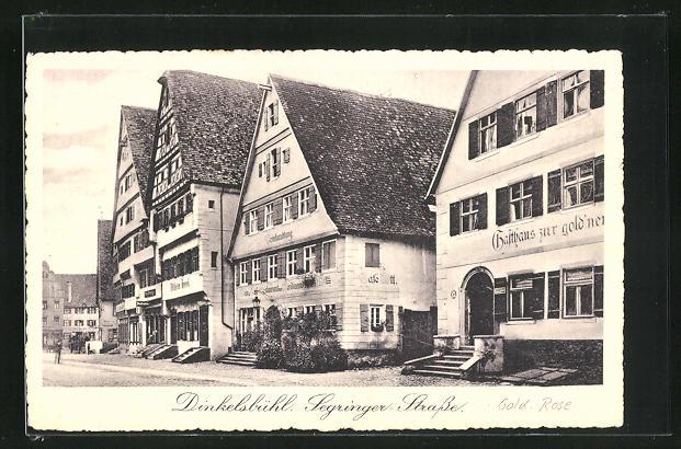 AK Dinkelsbühl, Segringer Strasse mit Gasthaus