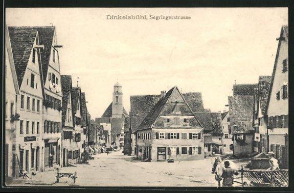 AK Dinkelsbühl, Partie in der Segringerstrasse