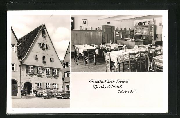 AK Dinkelsbühl, Gasthaus zur Sonne