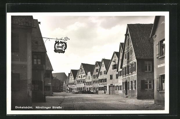 AK Dinkelsbühl, Nördlinger Strasse mit Gasthaus