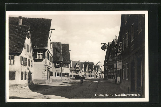 AK Dinkelsbühl, Nördlingerstrasse mit Gasthaus