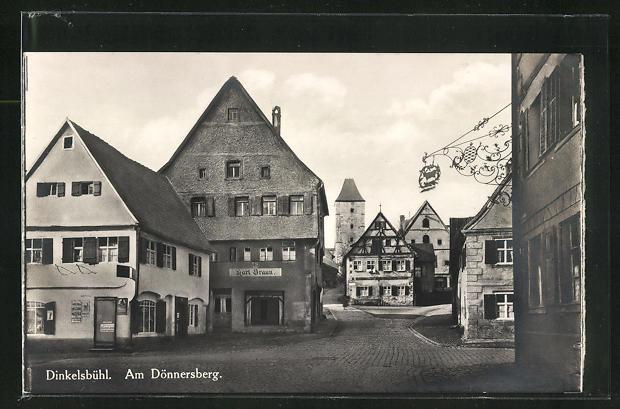 AK Dinkelsbühl, Strasse Wethgasse am Dönnersberg