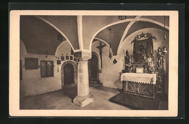 AK Dinkelsbühl, Hauskapelle im kathol. Pfarrhof, Innenansicht