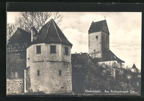 AK Dinkelsbühl, Am Rothenburger Tor