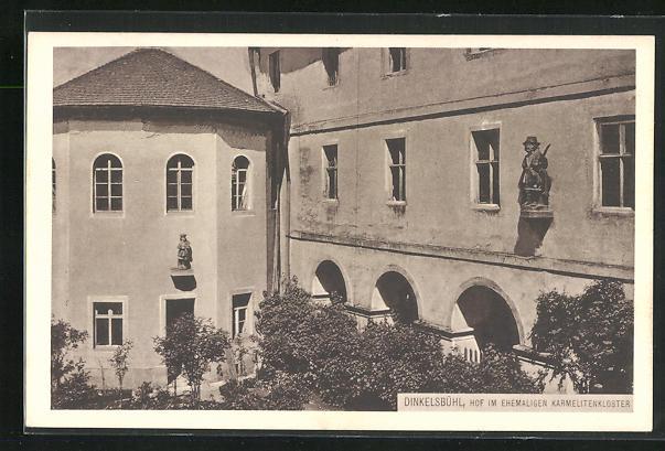 AK Dinkelsbühl, Hof im ehemaligen Karmelitenkloster