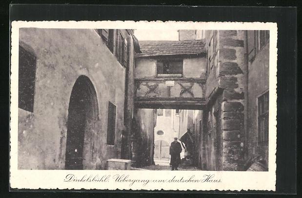 AK Dinkelsbühl, Uebergang am deutschen Haus