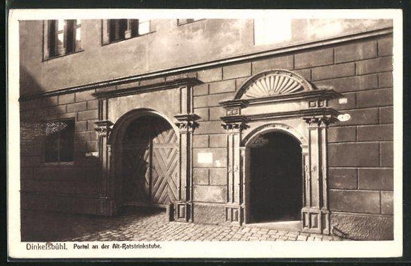 AK Dinkelsbühl, Portal an der Alt-Ratstrinkstube