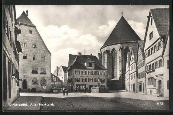 AK Dinkelsbühl, Alter Marktplatz