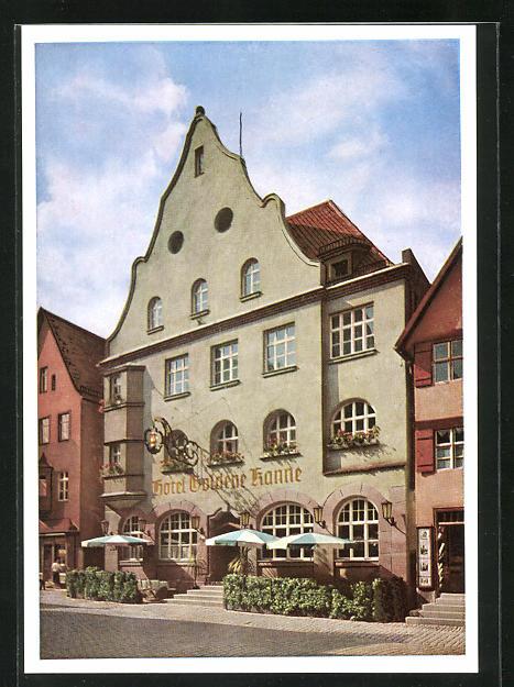 AK Dinkelsbühl, Hotel Goldene Kanne