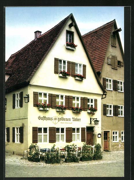AK Dinkelsbühl, Gasthaus Zum Goldenen Anker, Unt. Schmiedgasse 22