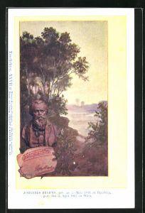 Künstler-AK Philipp + Kramer Nr. XXVII /9: Büste des Komponisten Johannes Brahms