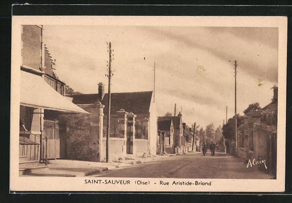 AK Saint-Sauvier, Rue Aristide-Briand