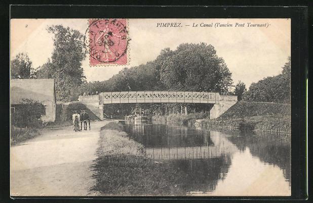 AK Pimprez, Le Canal, l'ancien Pont Tournant