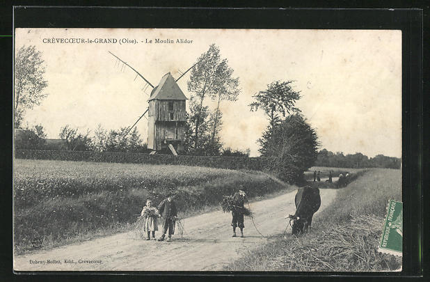 AK Crevecoeur-le-Grand, Le Moulin Alidor