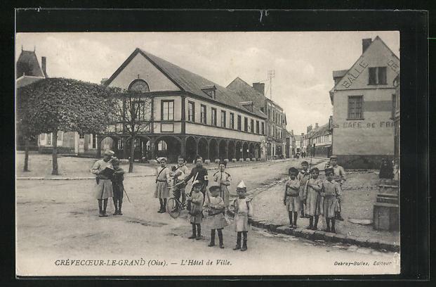 AK Crevecoeur-le-Grand, L'Hotel de Ville