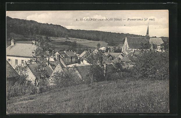 AK St-Crepin-aux-Bois, Panorama vom Berg gesehen