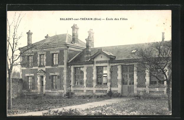 AK Balagny-sur-Therain, Ecole des Filles