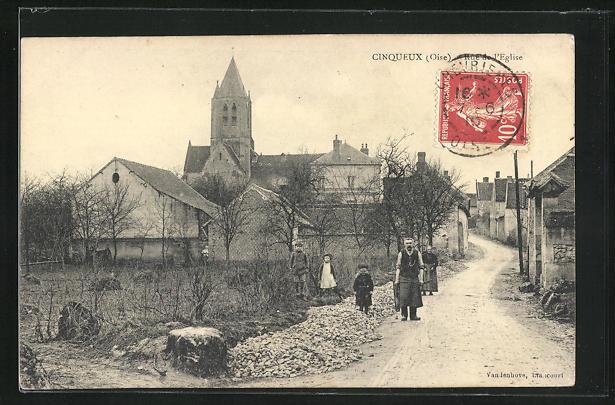 AK Cinqueux, Rue de l'Eglise