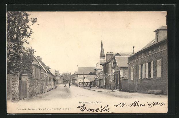 AK Serifontaine, Rue et l'Eglise