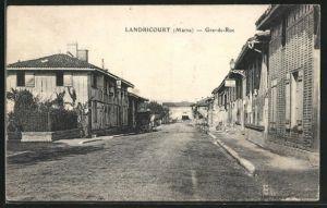 AK Landricourt, Grande-Rue, Strassenpartie