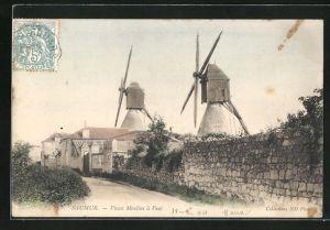AK Saumur, Vieux Moulins à Vent, Windmühlen