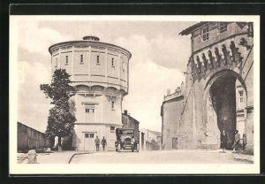 AK Verdun, Le Château d`Eau et la Porte Châtel, Wasserturme