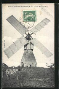 AK Douces, Les Moulins à Vent, Windmühle