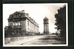 AK Haguenau, Le Lycée et le Château d`Eau, Wasserturm
