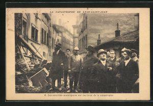 AK Lyon-Saint-Jean, Les autorités municipales sur les lieux de la catastrophe