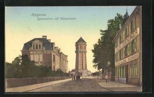 AK Hagenau, Gymnasium und Wasserturm