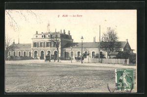 AK Albi, La Gare, Ansicht vom Bahnhof