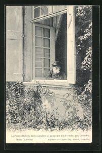 AK La Tronche, Hébert am Fenster seines Hauses
