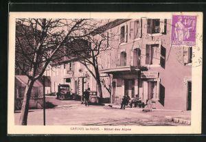AK Greoux-les-Bains, Hotel des Alpes