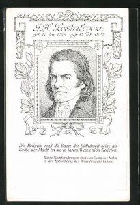 Künstler-AK Johann Heinrich Pestalozzi, Schweizer Pädagoge