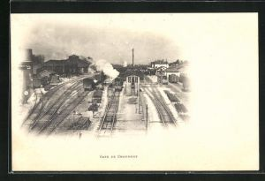 AK Chaumont, La Gare, Bahnhof mit Gleisanlagen