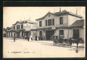 AK Chaumont, La Gare, Bahnhof