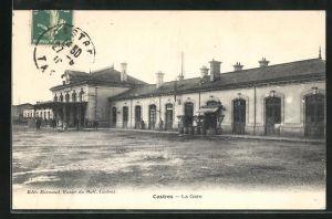 AK Castres, La Gare, Motiv vom Bahnhof