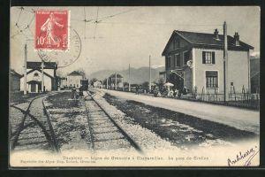 AK Crolles, La Gare, Ansicht vom Bahnhof