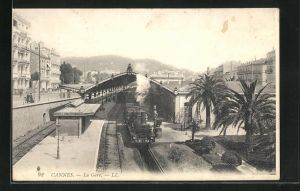 AK Cannes, La Gare, Motiv vom Bahnhof