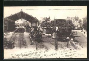 AK Valence, La Gare, Motiv vom Bahnhof