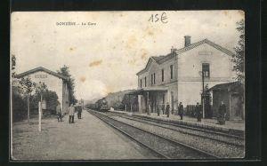 AK Donzère, La Gare, Ansicht vom Bahnhof