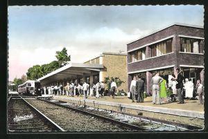 AK Orleansville, La Nouvelle Gare et les Quais, Bahnhof