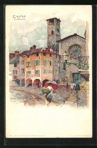 Künstler-Lithographie Manuel Wielandt: Como, S. Pedele