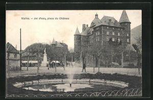 AK Vizille, Jet d`Eau, place du Chateau