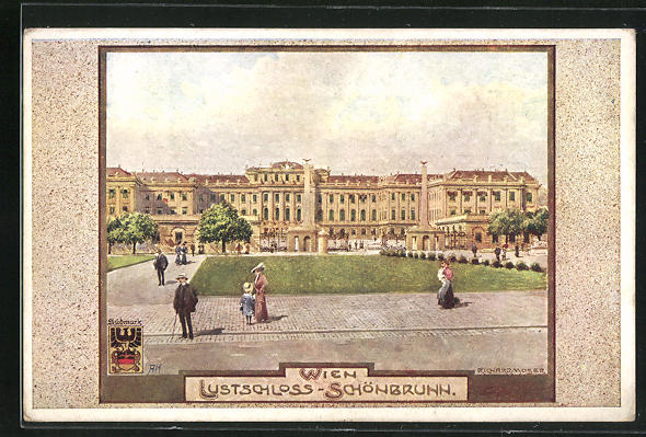 Künstler-AK Richard Moser: Wien, Lustschloss Schönbrunn