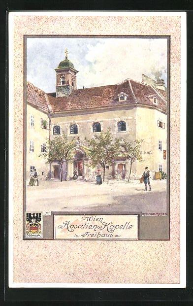 Künstler-AK Richard Moser: Wien, Rosalien-Kapelle im Freihaus