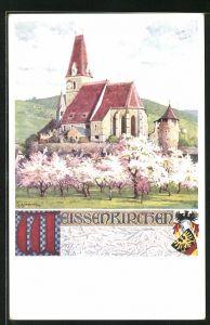Künstler-AK Richard Assmann: Weissenkirchen, Kirche
