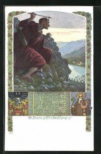 Künstler-AK Richard Assmann: St. Johann, Teufelsmauer, Glockenton und Hahnenschrei...