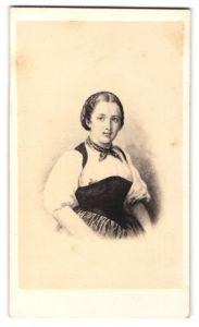 Fotografie Darstellung Maid aus Bern in Tracht